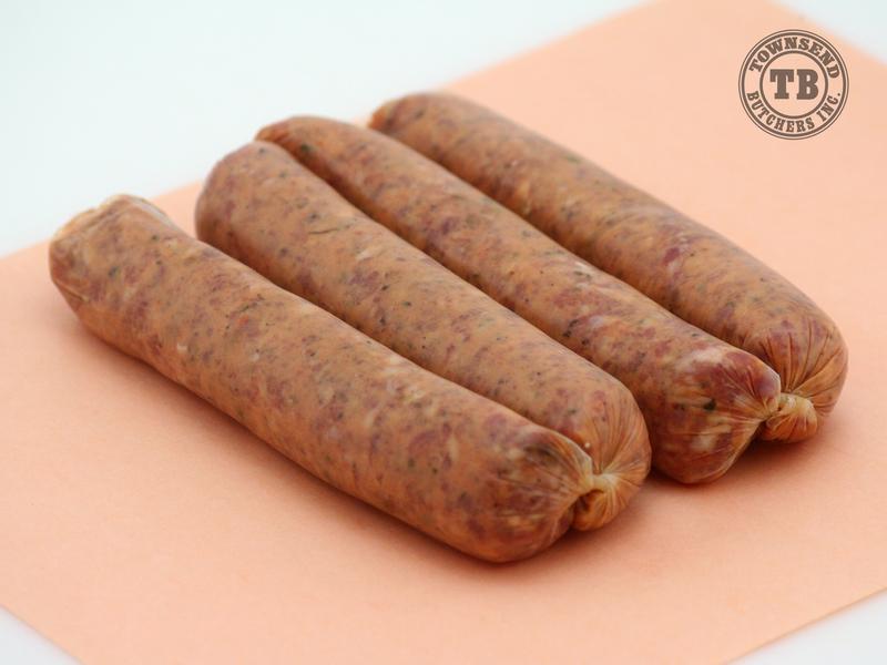 Tomato & Basil Pork Sausages
